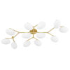 This item: Wagner Aged Brass 12-Light Semi-Flush Mount with Opal Glass