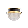 This item: Lucien Aged Brass and Black 9-Inch One-Light Flush Mount