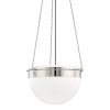 This item: Silo Polished Nickel 19-Inch One-Light Pendant