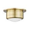 This item: Greenport Aged Brass Seven-Inch LED Flush Mount