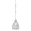This item: Floral Park Polished Nickel One-Light Pendant