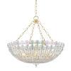 This item: Floral Park Aged Brass Eight-Light Pendant
