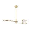 This item: Valeri Aged Brass Two-Light LED Pendant