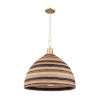 This item: Lido Beach Aged Brass One-Light Pendant
