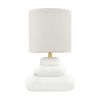 This item: Palisade Aged Brass One-Light Table Lamp with Gray Linen Shade