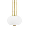 This item: Palisade Aged Brass One-Light Mini Pendant with Opal Matte Glass Shade