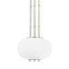 This item: Palisade Burnished Nickel One-Light Mini Pendant with Opal Matte Glass Shade