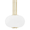 This item: Palisade Aged Brass One-Light Pendant with Opal Matte Glass Shade