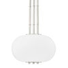 This item: Palisade Burnished Nickel One-Light Pendant with Opal Matte Glass Shade
