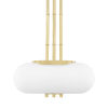 This item: Palisade Aged Brass 16-Inch Two-Light Pendant