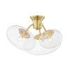 This item: Opera Aged Brass Three-Light Flush Mount