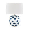 This item: Blue Point White and Blue Dots One-Light Accent Table Lamp