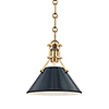 This item: Painted No.2 Gold and Blue One-Light Mini Pendant