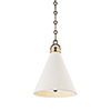 This item: Plaster No.1 Gold and White One-Light 10-Inch Pendant
