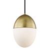 This item: Orion Aged Brass 1-Light 7.5-Inch Mini Pendant