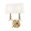 This item: Gwen Aged Brass 2-Light 10-Inch Wall Sconce