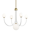 This item: Coco Aged Brass White 5-Light 30-Inch Chandelier