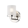 This item: Ryan Polished Nickel 1-Light Five-Inch Bath Sconce