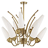 This item: Amee Aged Brass 10-Light 32.5-Inch Chandelier
