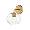 This item: Margot Aged Brass One-Light Wall Sconce