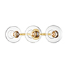 This item: Margot Aged Brass Three-Light Wall Sconce