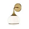 This item: Reese Aged Brass One-Light Bathroom Vanity Light