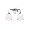 This item: Reese Polished Nickel Two-Light Bathroom Vanity Light