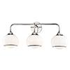 This item: Reese Polished Nickel Three-Light Bathroom Vanity Light