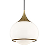 This item: Reese Aged Brass 14-Inch One-Light Pendant