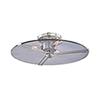 This item: Boni Polished Nickel Three-Light Flush Mount
