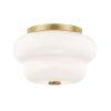 This item: Hazel Aged Brass Two-Light Flush Mount
