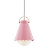 This item: Lauryn Aged Brass and Blush One-Light Pendant