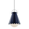 This item: Lauryn Polished Nickel and Navy One-Light Pendant