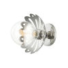This item: Alyssa Polished Nickel One-Light Wall Sconce