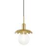This item: Alyssa Aged Brass One-Light Mini Pendant