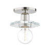 This item: Alexa Polished Nickel One-Light Wall Sconce