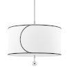This item: Zara Polished Nickel Three-Light Drum Pendant with Belgian Linen Shade