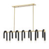 This item: Whit Aged Brass and Black 14-Light Pendant