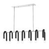 This item: Whit Polished Nickel and Black 14-Light Pendant