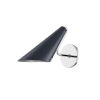 This item: Talia Polished Nickel and Midnight Blue One-Light Wall Sconce