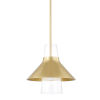 This item: Jessy Aged Brass 12-Inch One-Light Pendant