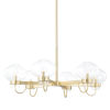 This item: Korey Aged Brass Six-Light Chandelier