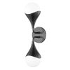 This item: Ariana Old Bronze Two-Light LED Wall Sconce with Opal Glossy Glass