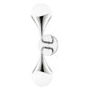 This item: Ariana Polished Nickel Two-Light LED Wall Sconce with Opal Glossy Glass