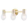 This item: Jenna Aged Brass Three-Light Bath Vanity