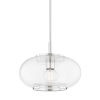 This item: Maggie Polished Nickel One-Light Globe Pendant