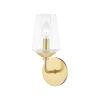 This item: Kayla Aged Brass One-Light Bathroom Vanity Light