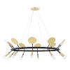 This item: Fern Aged Brass and Black 10-Light Chandelier