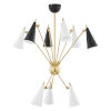 This item: Moxie Aged Brass Nine-Light Chandelier