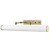 This item: Holly Aged Brass White 3-Light 24-Inch Wall Sconce